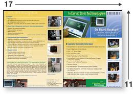 full color 11 x 17 brochure